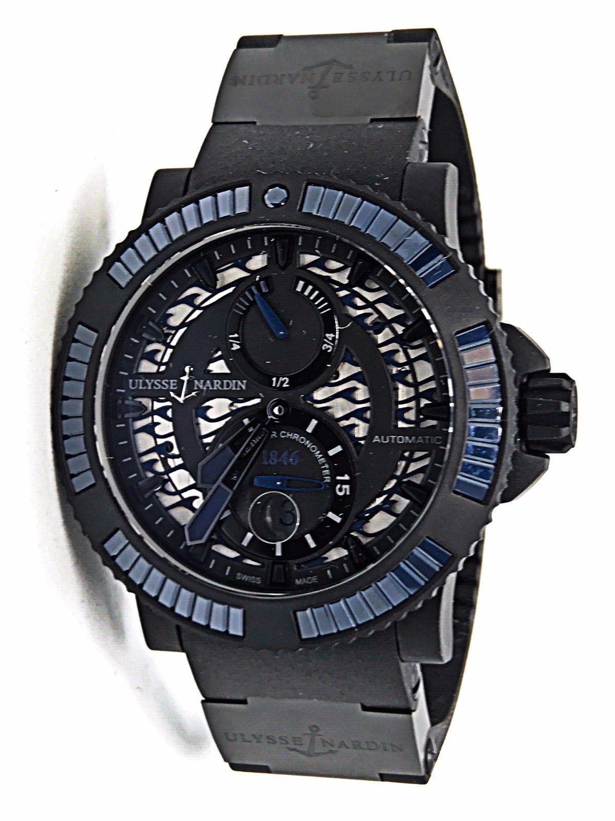 "Image of ""Ulysse Nardin Diver Black Sea 263-92B3-3C/923 Stainless Steel, Rubber"""
