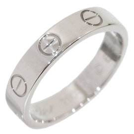 Cartier Mini Love 18K White Gold Ring Size 3.75