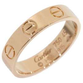 Cartier Love 18K Rose Gold Mini Ring Size 3.5