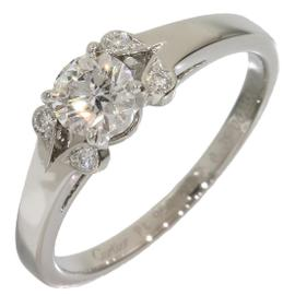 Cartier 950 Platinum Ballerine 0.35ct Diamonds Ring Size 5