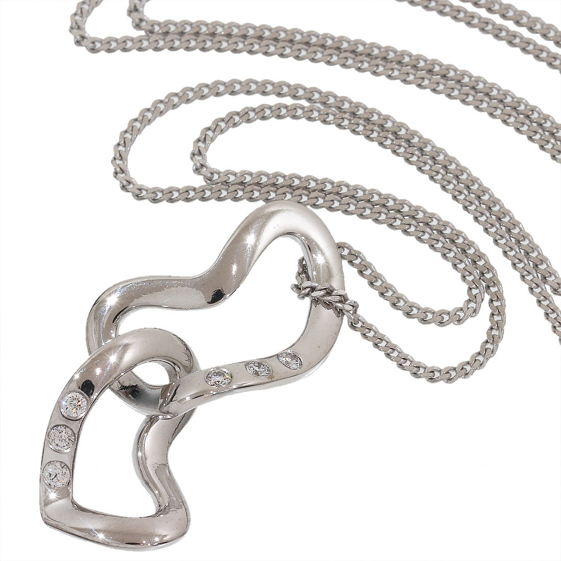 "Image of ""Georg Jensen 18K White Gold 0.06ct. Diamonds Heart Pendant Necklace"""