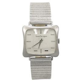 Girard Perregaux 18K White Gold White Dial Manual Vintage 29mm Mens Watch