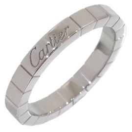 Cartier 18K White Gold Lanieres Wedding Ring Size 7.25
