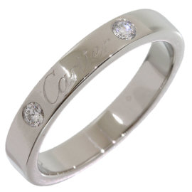 Cartier 950 Platinum Diamonds Engraved Wedding Band Size 5