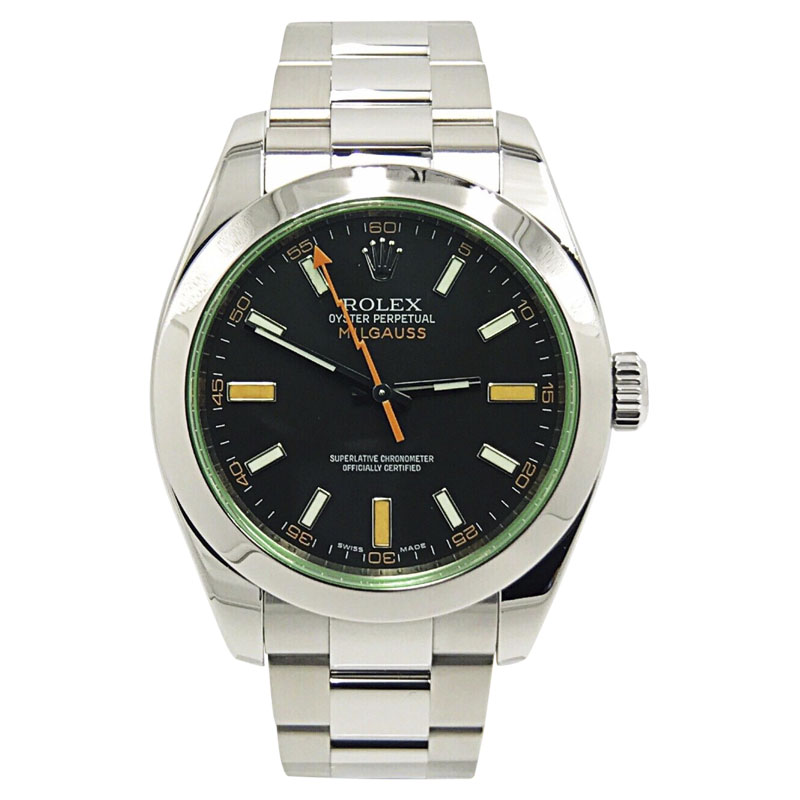 """Image of """"Rolex Milgauss 116400V Stainless Steel Black Dial Automatic 40mm Mens"""""""