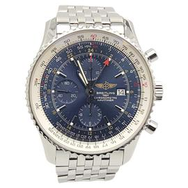 Breitling Navitimer World A24322 Stainless Steel Blue Dial Automatic 46mm Mens Watch