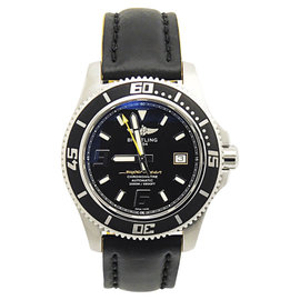 Breitling Superocean Abyss 44 A17391 Stainless Steel & Rubber Black Dial Automatic 44mm Mens Watch