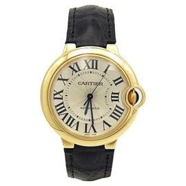 Cartier Ballon Bleu W6900456 18K Yellow Gold Automatic 37mm Unisex Watch