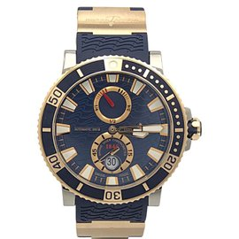 Ulysse Nardin Marine Diver 265-90 Stainless Steel and 18K Rose Gold 44mm Mens Watch