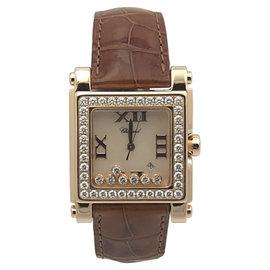 Chopard Happy Sport 275322-5002 18K Rose Gold Quartz 30mm Womens Watch