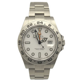 Rolex Explorer 2 216570 Stainless Steel & White Dial 42mm Mens Watch