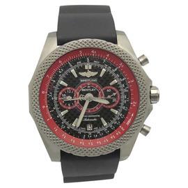 Breitling for Bentley Supersports Lightbody E27365 Titanium Carbon Fiber & Red Dial 49mm Mens Watch
