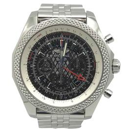Breitling for Bentley B04 GMT AB0431 Stainless Steel & Black Lace Dial 49mm Mens Watch