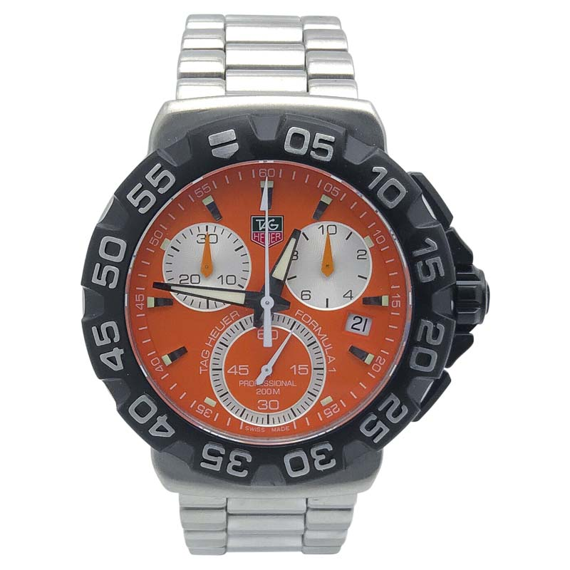 "Image of ""Tag Heuer Formula 1 Cah1113.ba0850 Stainless Steel with Orange Dial"""