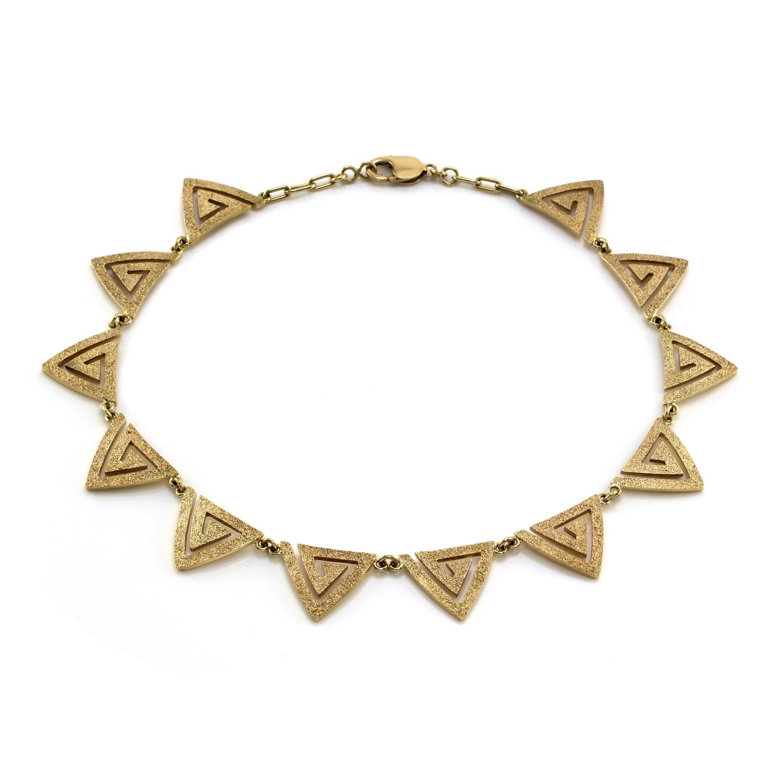 "Image of ""Hammerman Brothers 14k Yellow Gold Modernist Triangle Necklace"""