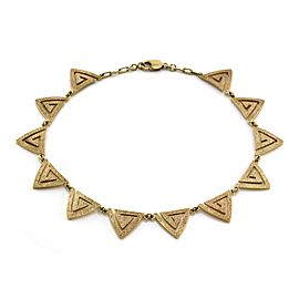 Hammerman Brothers 14k Yellow Gold Modernist Triangle Necklace