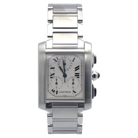 Cartier Chronoflex W51001Q3 Stainless Steel & Silver Dial 29mm Unisex Watch