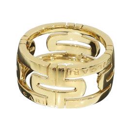 Bulgari 18K Yellow Gold Open Parentesi Ring Size 9