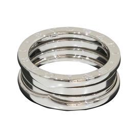 Bulgari 18K White Gold B.zero1 3-Band Ring Size 8.5