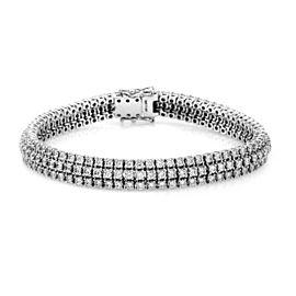 A. Jaffe 18K White Gold Three Row 7.98ct. Diamond Bracelet