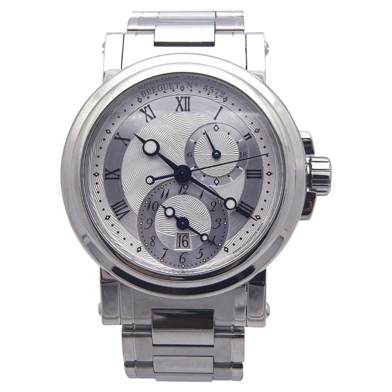 "Image of ""Breguet Marine GMT 5857St12Szo Stainless Steel Automatic Silver Dial"""