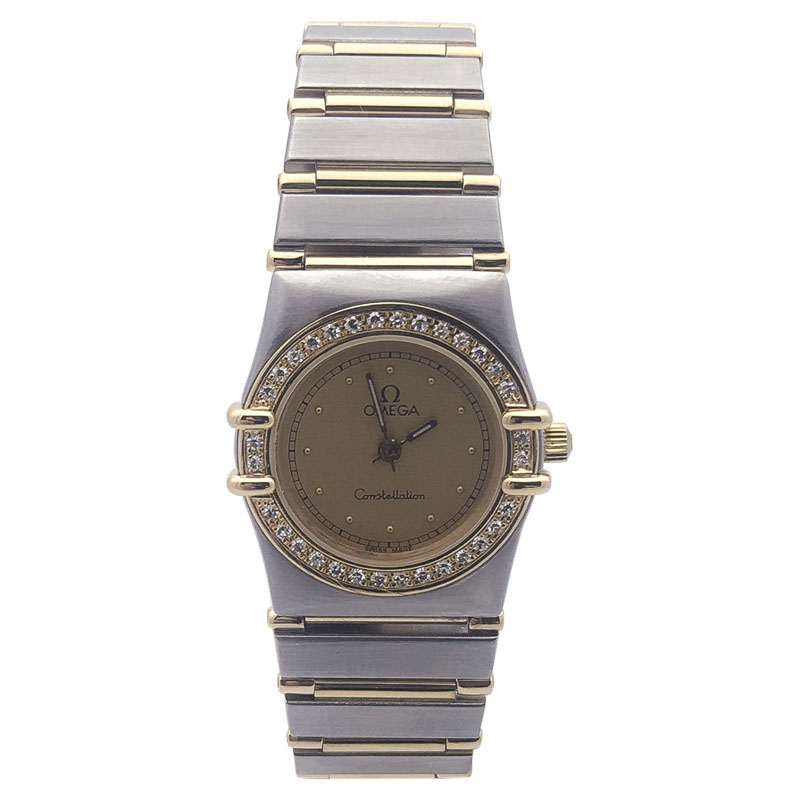 """Image of """"Omega Constellation Two Tone Stainless Steel and Yellow Gold with"""""""
