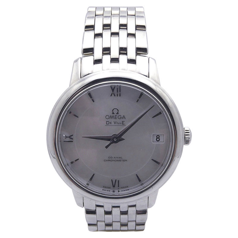 """Image of """"Omega Deville Stainless Steel White Mother of Pearl Dial 32.5mm Womens"""""""