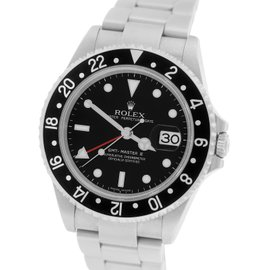 Rolex GMT-Master II 16710 Black Stainless Date 40mm Mens Watch