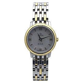 Omega Deville 424.20.24.60.05.001 Two Tone Stainless Steel and 18K Yellow Gold Quartz 24.4mm Womens Watch