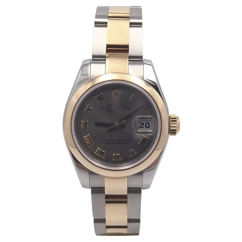 "Image of ""Rolex Datejust 179161 Stainless Steel & 18K Gold Rhodium Romans Dial"""