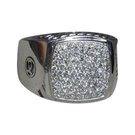 David Yurman 925 Sterling Silver with Diamond Ring Size 12