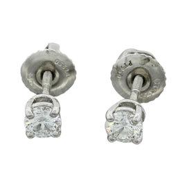 Tiffany & Co. Platinum 0.34ctw Diamond Stud Earrings