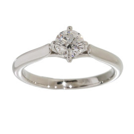 Mikimoto Platinum 950 0.40ct Diamond Ring Size 4.25