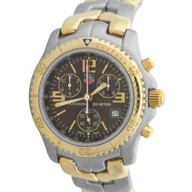 Tag Heuer Link Calibre S CT1150 18K Yellow Gold & Stainless Steel 42mm Mens Watch