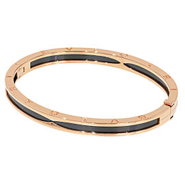 Bulgari B.Zero 1 18K Rose Gold and Ceramic Bangle
