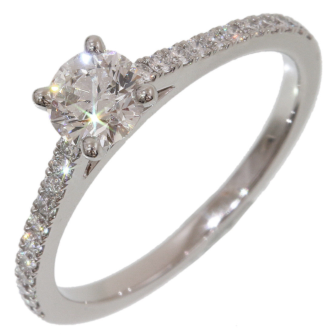 "Image of ""De Beers 950 Platinum Diamond 0.55ct Ring Size 5"""