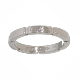 Cartier Mailon Panthere 18K White Gold Band Ring Size 5.75