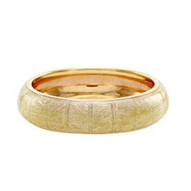 Hidalgo 18K Rose Gold & Beige Pink Enamel Eternity Band Ring Size 6.75