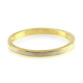 Hidalgo 18K Yellow Gold & Pink Enamel Stackable Eternity Band Ring Size 6.5