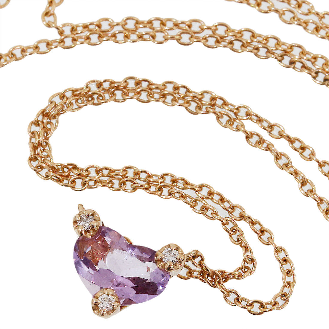 "Image of ""Ponte Vecchio 18K Rose Gold with 0.60ct Amethyst & 0.02ct Diamonds"""