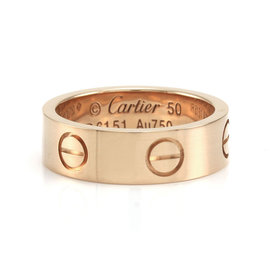 Cartier Love 18K Rose Gold Ring Size 5.25