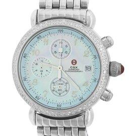 Michele CSX Diamond Chronograph 71-4000/5000 Stainless Steel 36mm Womens Watch