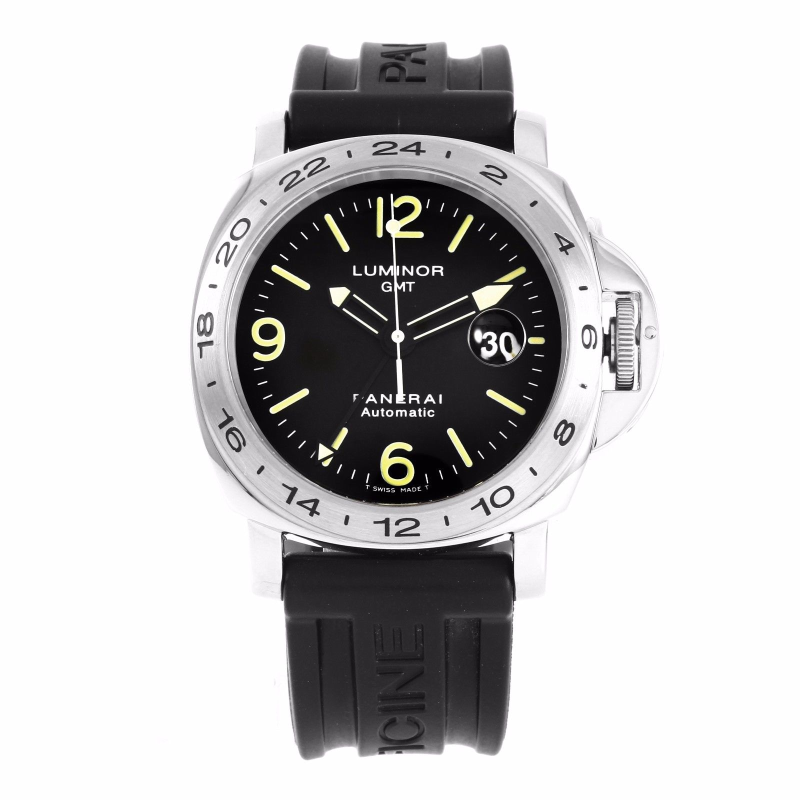 """Image of """"Panerai Luminor Stainless Steel / Leather 44mm Mens Watch"""""""