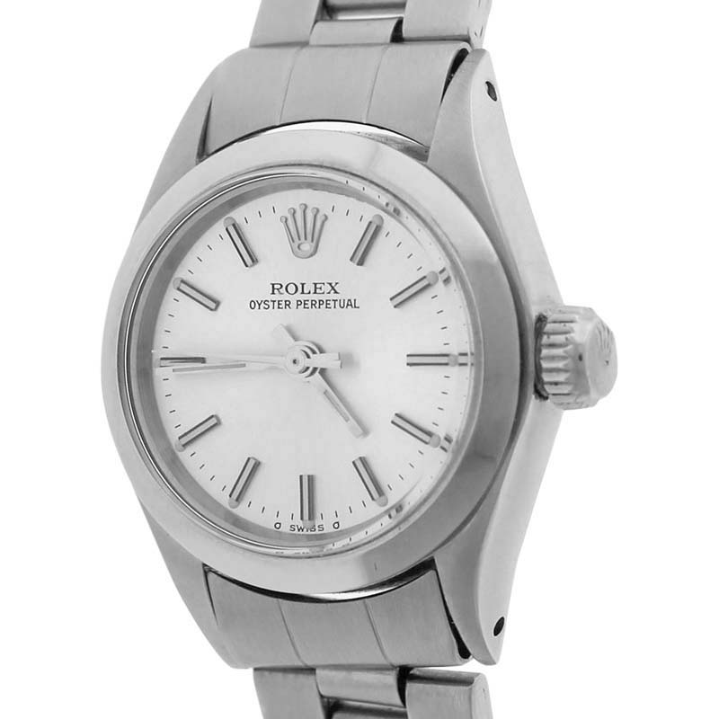 "Image of ""Rolex Oyster Perpetual 6718 Stainless Steel 24mm Womens Watch"""