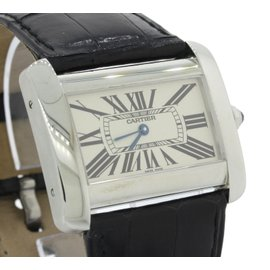 Cartier Tank Divan 2600 Stainless Steel 23mm Womnens Watch