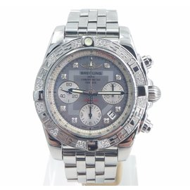 Breitling Chronomat 41 AB0140 Stainless Steel with Diamond Automatic 41mm Unisex Watch