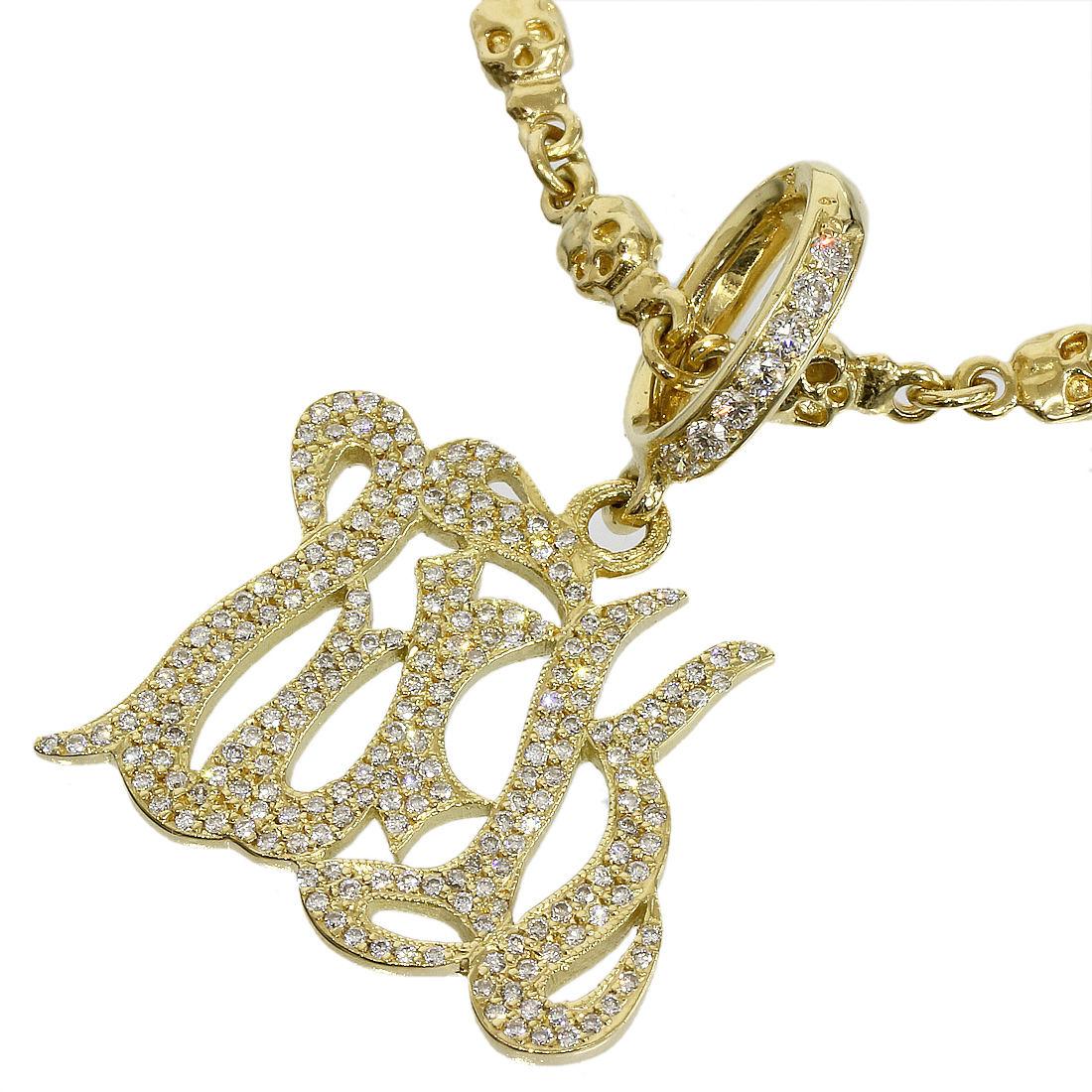"Image of ""Loree Rodkin 18K Yellow Gold Diamond Logo Plate & Diamond Chain"""