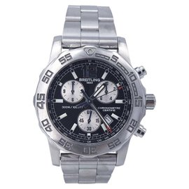 Breitling Colt Chronograph A73387 Stainless Steel Quartz Black Dial 44mm Mens Watch