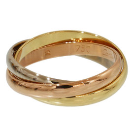 Cartier Trinity de 18K Yellow, White & Rose Gold 3 Bands Ring Size 6
