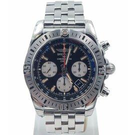 Breitling Chronomat 01 AB0115 Black Dial Stainless Steel 44mm Mens Watch